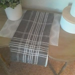 Nautica Home Pillow Sham Gray White Plaid